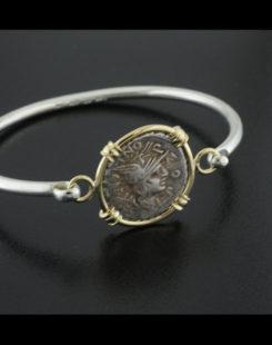 ancient roman denarius coin bracelet