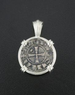ancient crusader denier coin pendant