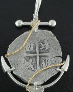 lucayan beach shipwreck cob coin pendant