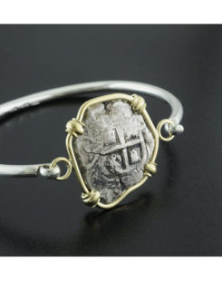 spanish two reales cob coin bracelet