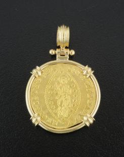 venetian zecchino coin pendant