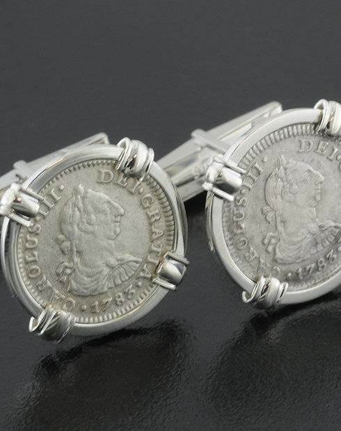 el cazador shipwreck coin cuff links