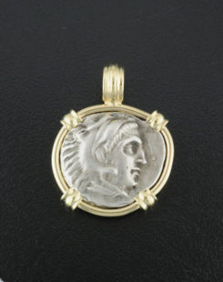 ancient greek drach coin pendant