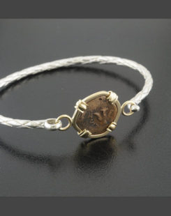 ancient widow's mite coin bracelet