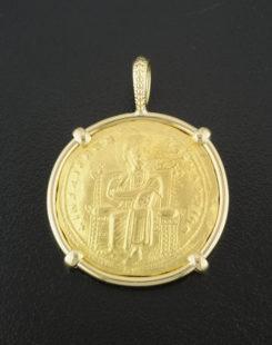 byzantine histamenon nomisma coin pendant