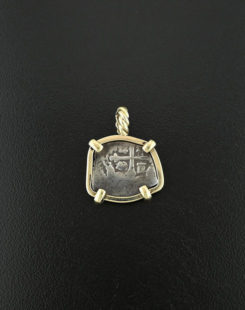 spanish coin pendant