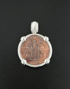 shipwreck admiral coin pendant
