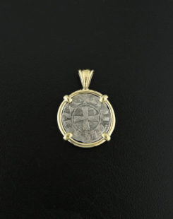 ancient denier coin pendant