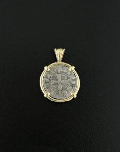 ancient denier coin pendant