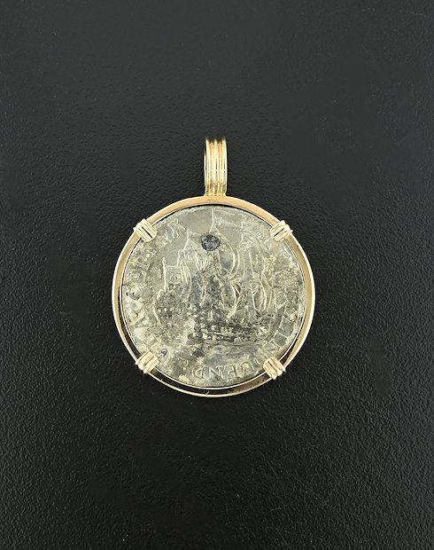 old world dutch sicx stuiver coin pendant