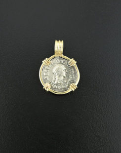indo greek coin pendant