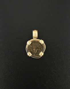 in the bible coin pendant