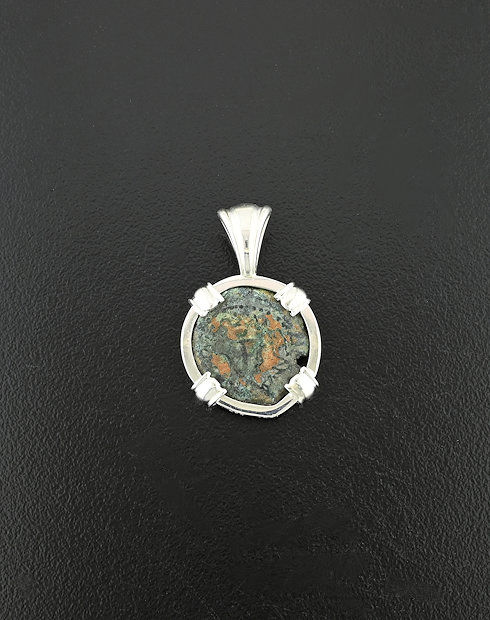 widows mite in the bible coin pendant