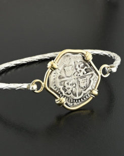 spanish cob two reales bracelet