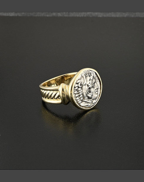 ancient greek drachm ring