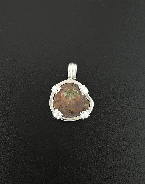 wdows mite coin pendant