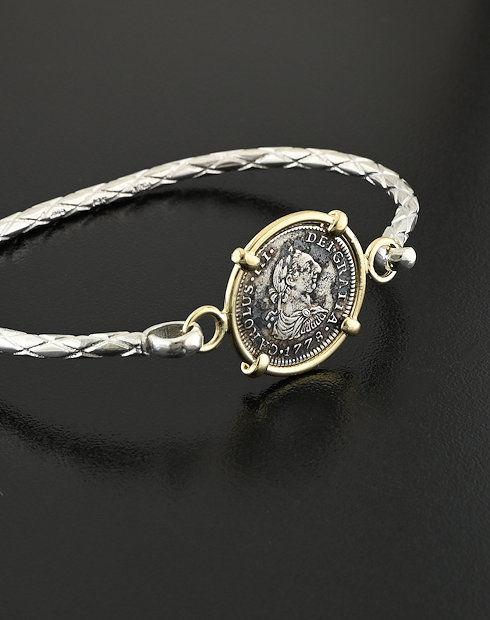 spnish sipwreck coin bracelet