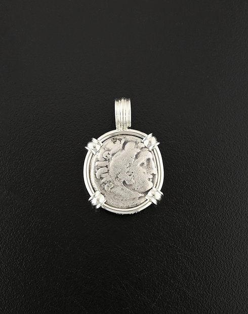 ancient greek drachm coin pendant