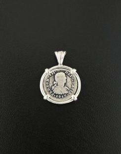 half real bust coin pendant