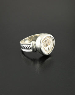 ancient greek drachm ring