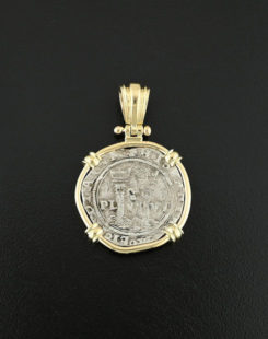 spnish cob one real coin pendant