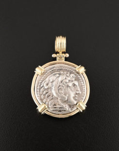 greek tetradrachm coin pendant