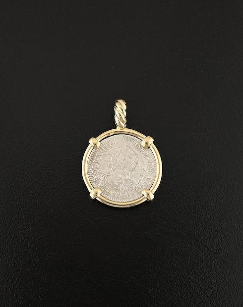 shipwreck coin pendant