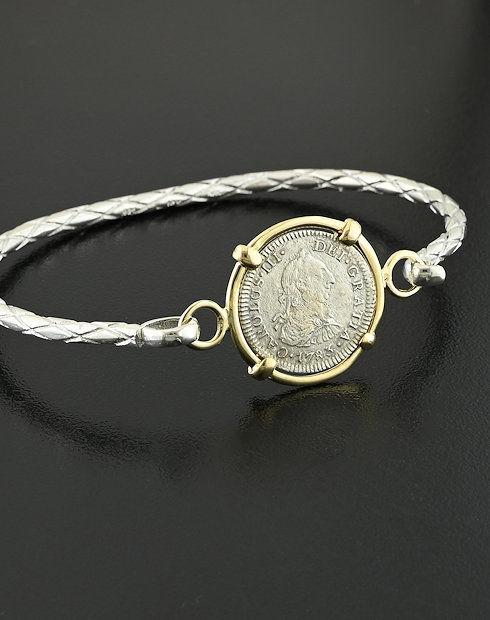 shipwreck half real coin bracelet