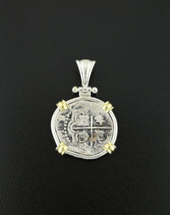 spanish cob one real coin pendant