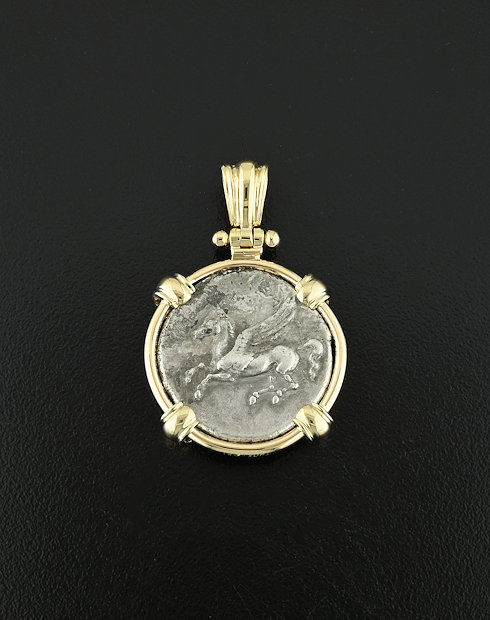 Greek stater coin pendant