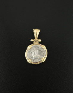 ancient greek tetrobol coin pendant