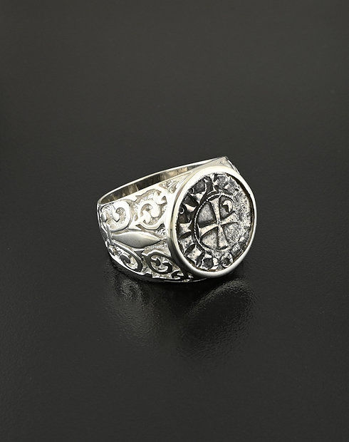 crusader denier ring coin