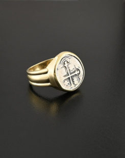 spanish cob one real coin ring