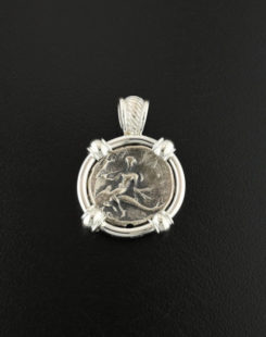 ancient greek nomos coin pendant