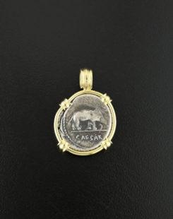 roman imperatorial denarius coin pendant