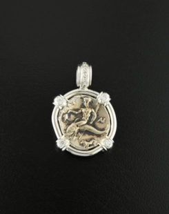 ancient greek nomos coin pendant