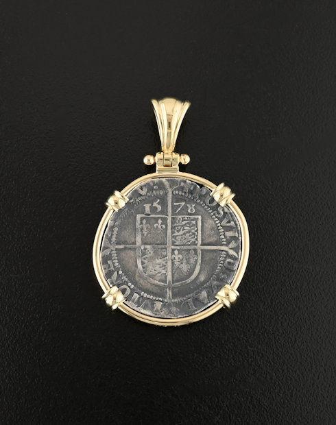 english sixpence coin pendant