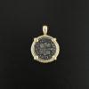 spanish cross type half real coin pendant
