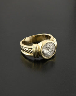 ancient greek hemidrachm coin ring