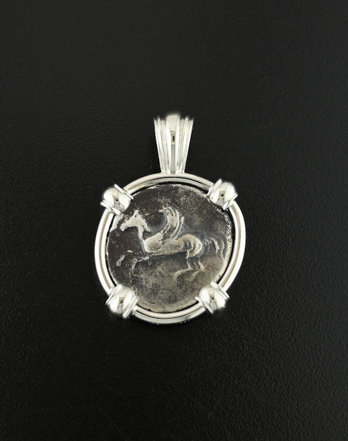 ancient greek stater coin pendant