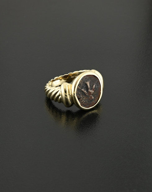 widows mite coin ring