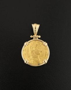 roman imperial solidiuscoin pendant