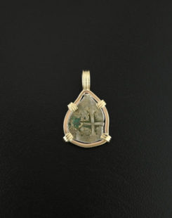 spanish cob half real pendant