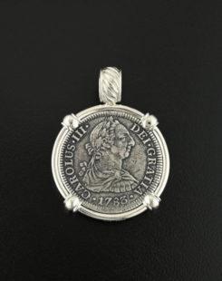shipwreck el cazador bust two realescoin pendant