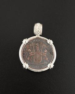 shipwreck admiral gardner coin pendant