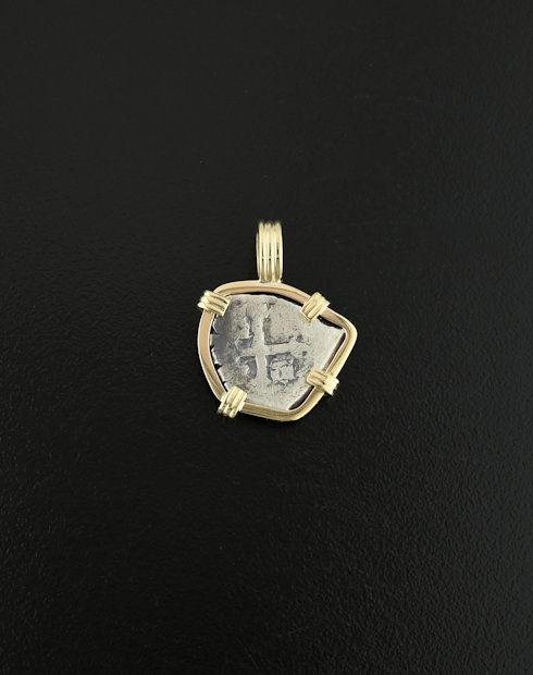 spanish cob half reaol coin pendant