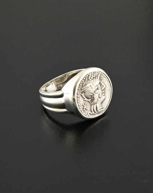roman republic denarius coin ring