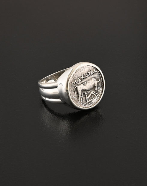 ancient greek drachm ring coin