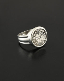 crusader denier coin ring