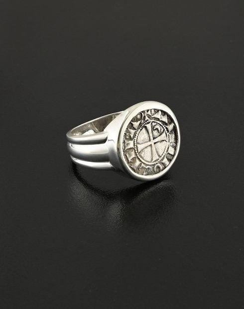 crusader denier coin ring